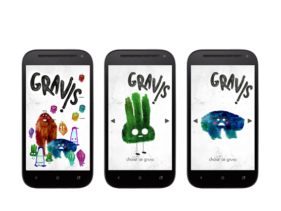 pages smartphone Gravis
